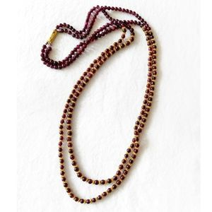 Vintage Indian garnet + gold necklace
